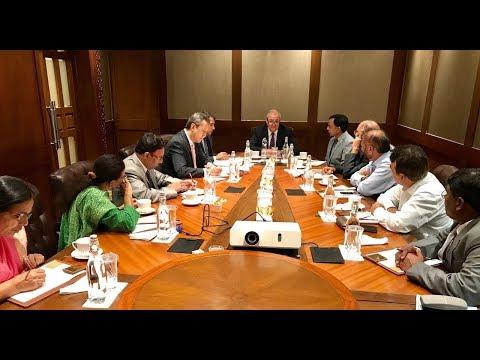 Встреча с деятелями науки и культуры Индии