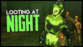 Looting 5 Military Bases at NIGHT! - 7 Days to Die Gameplay : Part 16