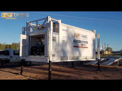 Mobile Self Loading 30,000l Bunded Fuel tank and Pump Station