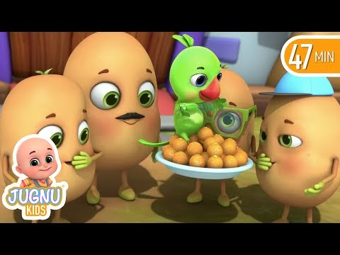 Aaloo Kachaloo - आलू कचालू  - hindi  rhymes for Children by jugnu kids