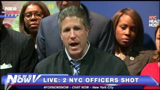 2 New York City Police Officers Shot - Full Press Conference
