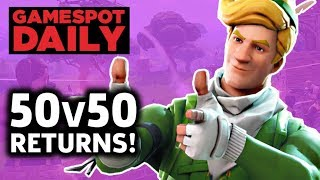 Fortnite 50v50 Is Back With A New Weapon - GameSpot Daily
