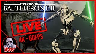 Count Dooku Is Here! Star Wars Battlefront 2 PS4 and PC Gameplay | 4K Live Stream (4K 60FPS)