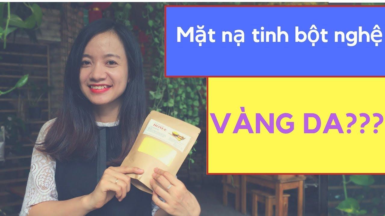 ĐẮP MẶT NẠ TINH BỘT NGHỆ CÓ BỊ VÀNG DA KHÔNG? | Tinh bột nghệ HOMiE | Lê Thị Thơm