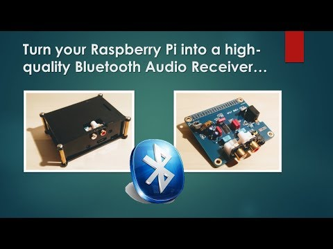 Turn your Raspberry PI into a Bluetooth audio receiver