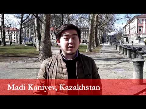 Madi Kaniyev, student from Kazakhstan at the University of Ljubljana