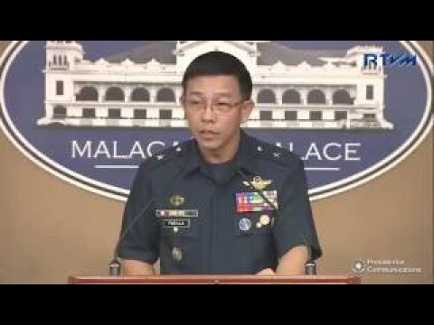 PHILIPPINES PRESIDENT DUTERTE! Press Briefing Of AFP Spokesperson Restituto Padilla, Jr. 1