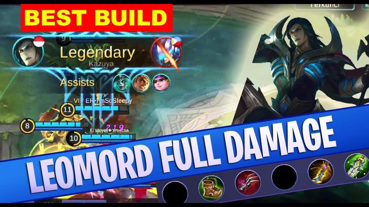 best build leomord gear item gameplay mobile legends video
