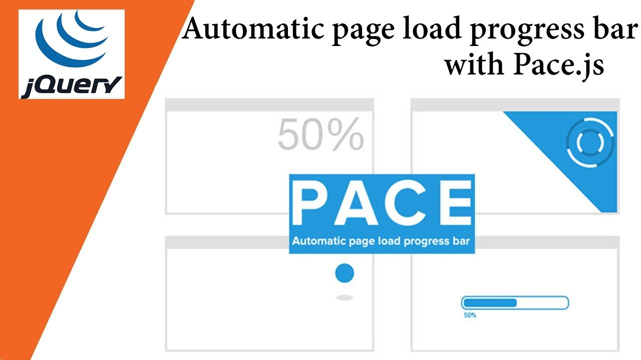 Automatic page load progress bar with Pace js 🔥🔥 Javacsript Plugin