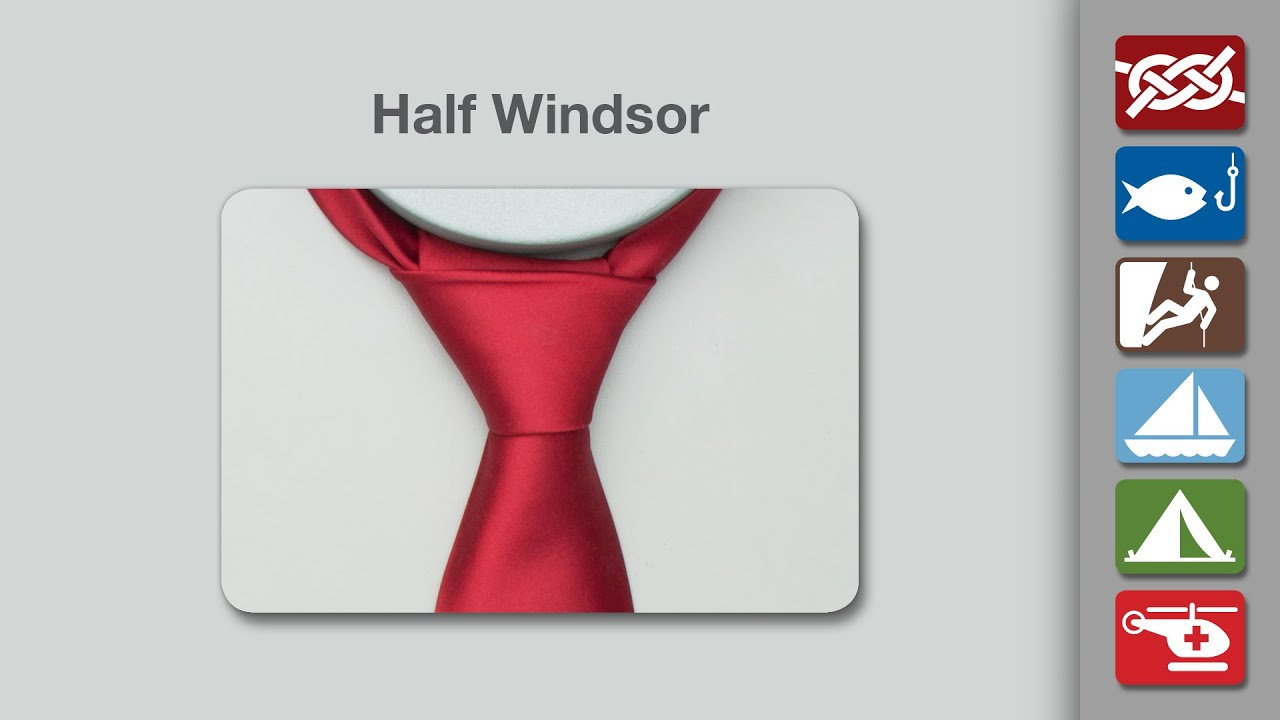 Half Windsor Knot How To Tie A Half Windsor Knot
