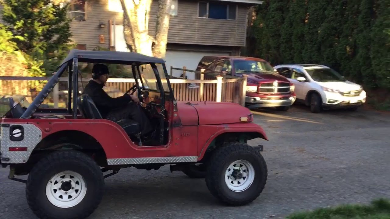 small resolution of 1970 cj5 test drive after it received a v6 to v8 transplant