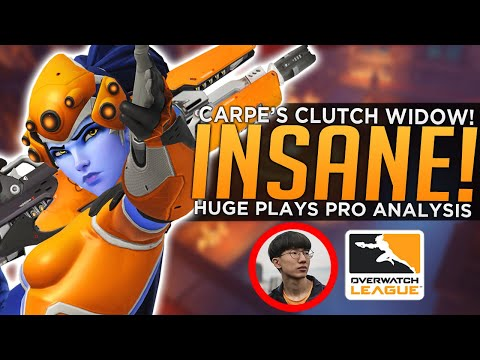 Carpe's INSANE Clutch Widowmaker Comeback! - BEST Overwatch League Plays Week 2