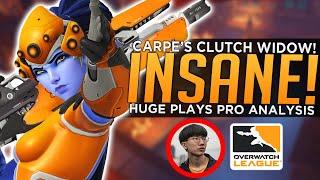 Carpe's INSANE Clutch Widowmaker Comeback! - BEST Overwatch League Plays Week 2