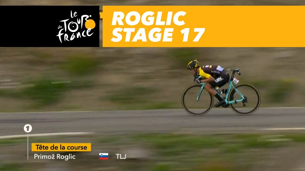 Roglic in the descent - Stage 17 - Tour de France 2017 - YouTube