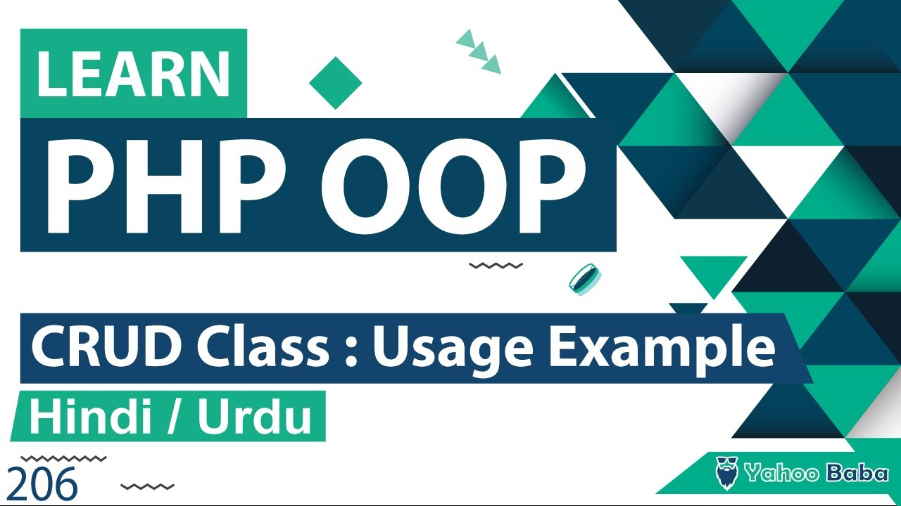 PHP CRUD Class - Usage Example Tutorial in Hindi / urdu