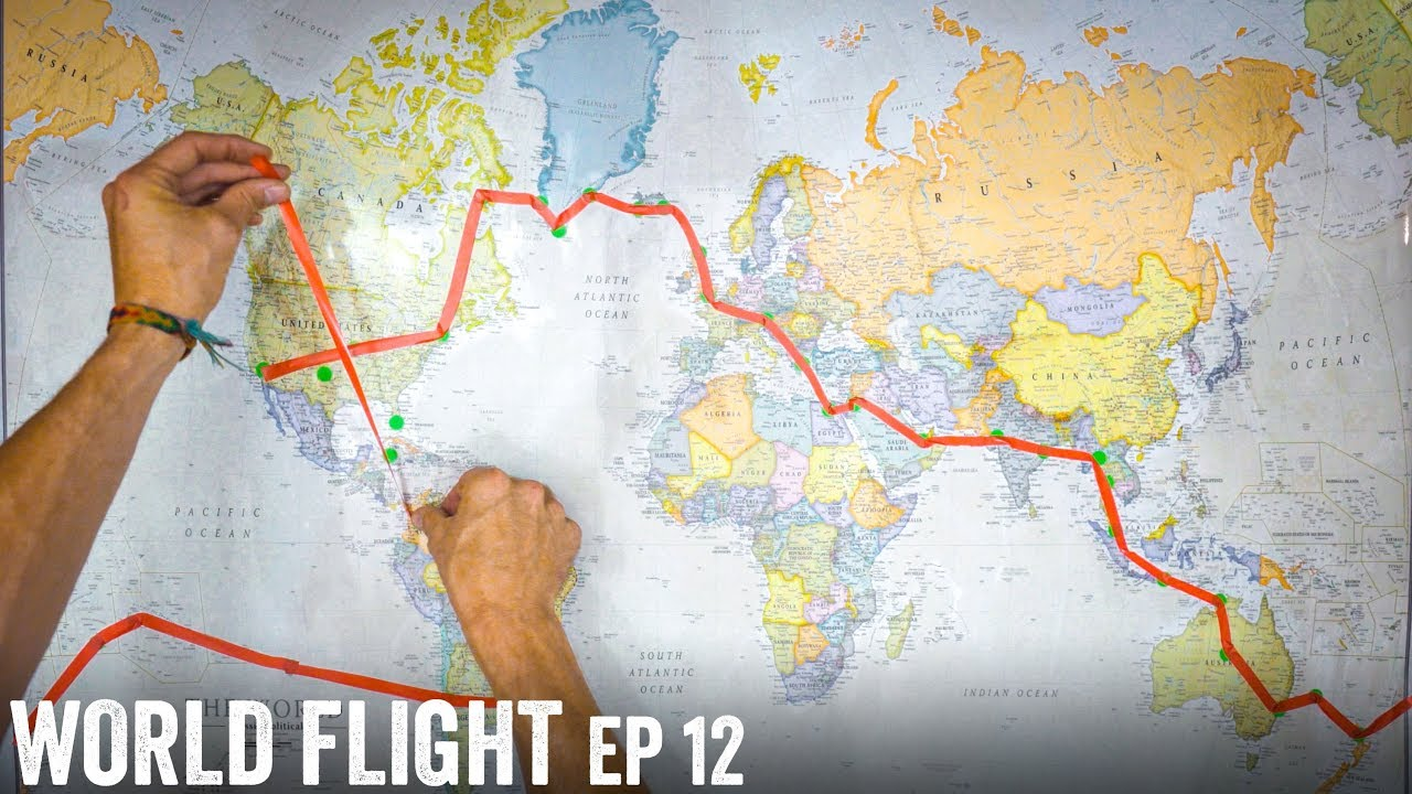 FIRST INTERNATIONAL FLIGHT! - World Flight Episode 12 - YouTube