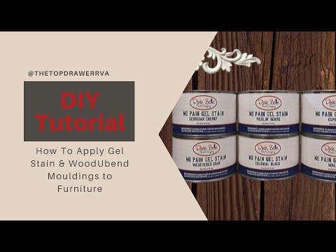 How To Use Gel Stain & WoodUbend Mouldings On Furniture