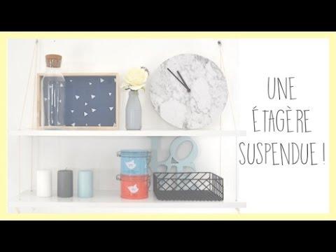 diy une tag re suspendue za na youtube. Black Bedroom Furniture Sets. Home Design Ideas