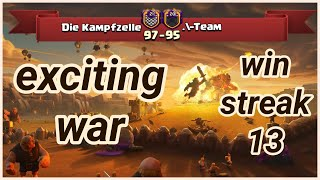 win streak 13 Die Kampfzelle vs .\-Team | war recap | best of 3 star | COC clash of clans 2018