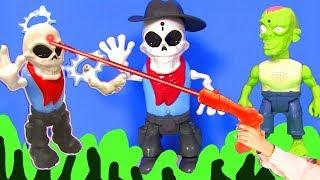 Зомби Апокалипсис #Скелет Монстр! Зомби Бластер Zombie #Видео для детей! Босс Молокосос TMNT