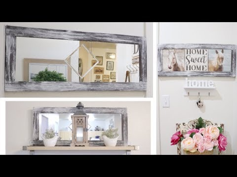 DIY DOLLAR TREE FARMHOUSE LARGE WALL DECOR! 29 MARCH 2019