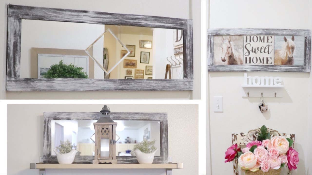Diy dollar tree farmhouse large wall decor 29 march 2019