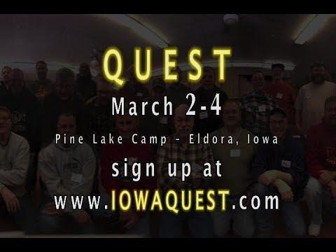 Quest 2018 - March 2-4, Pine Lake Camp, Eldora, Iowa