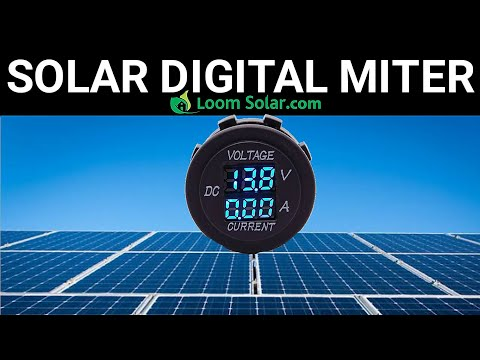 loom-solar-mono-panel-voltage-&-ampeare-check-on-digital-mitter