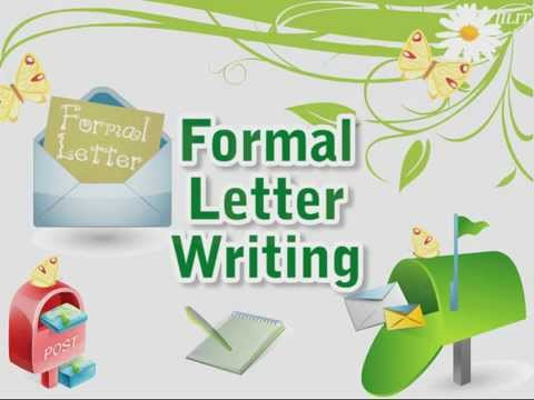 Formal Letter Writing Youtube