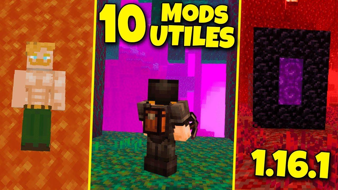 10 Nuevos Mods Utiles Para Minecraft 1 16 1 Forge 1 16 1 Youtube