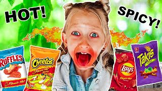 LAST to STOP Eating SPICY CHiPS wins MYSTERY PRIZE!! **They Went Crazy**