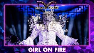 Koningin - 'Girl on Fire' - Alicia Keys | The Masked Singer | VTM