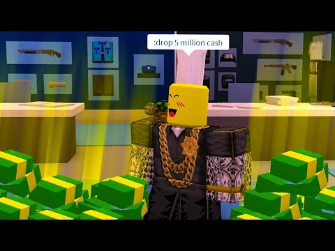 DROPPING TONS OF CASH IN ROBLOX JAILBREAK