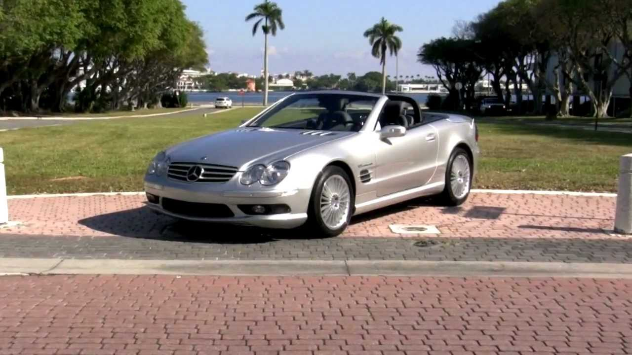 2004 mercedes benz sl55 amg brilliant silver metallic for Palm beach mercedes benz