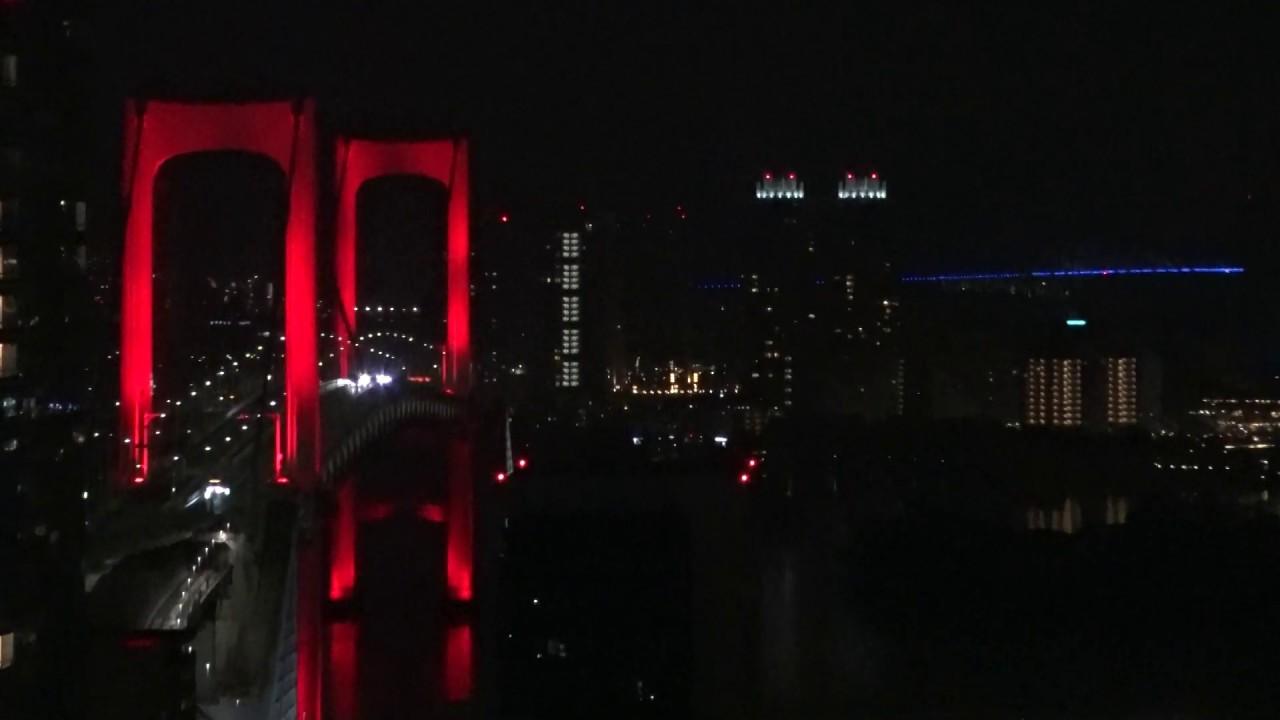 赤い レインボー ブリッジ