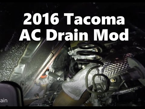 2016 Toyota Tacoma AC Drain Modification - YouTube
