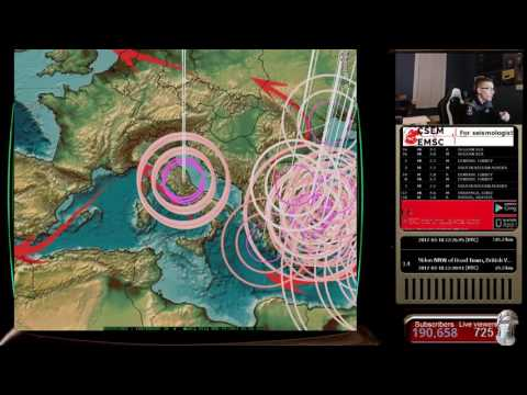 3/18/2017 -- New earthquake discovery -- SPEED of seismic pressure 4-5 miles per second