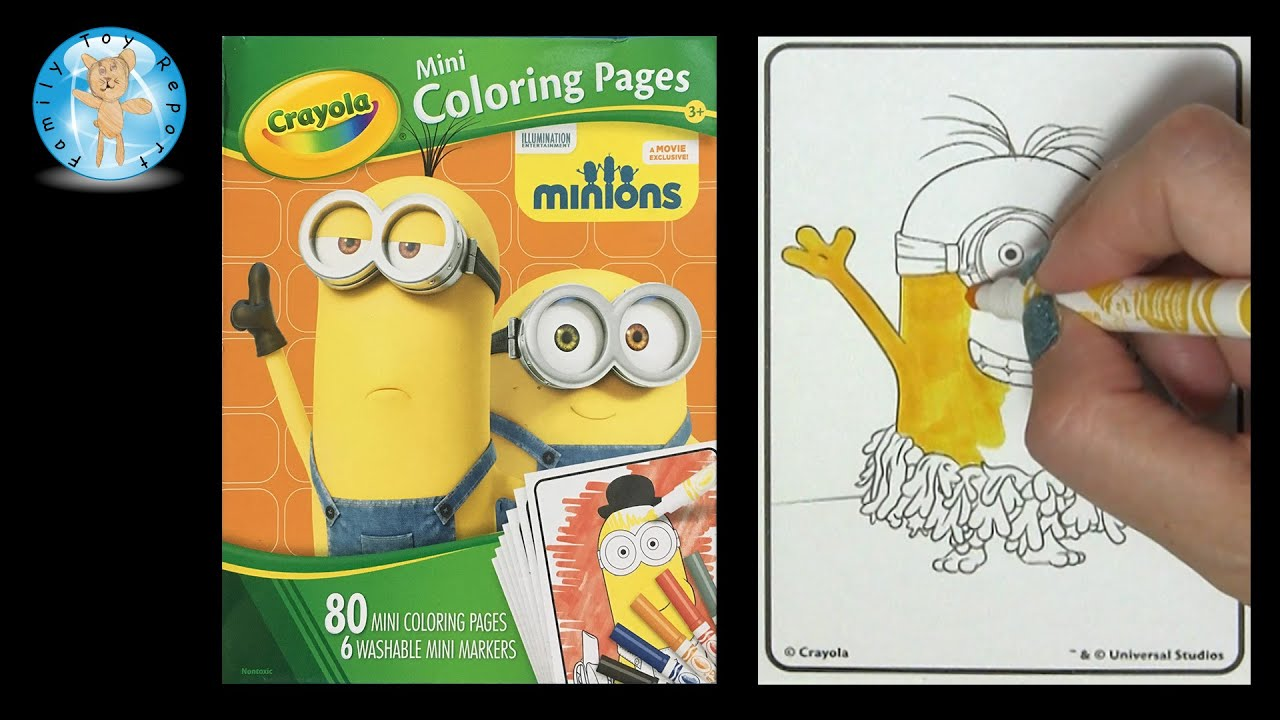 Crayola Mini Coloring Pages Markers Set Minions Movie Speed Color
