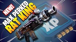 MAXED LEGENDARY PERKS | *RAT KING*  | Fortnite Save the World Gameplay | New Gun