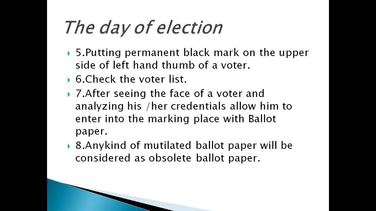 polling officer duty youtube