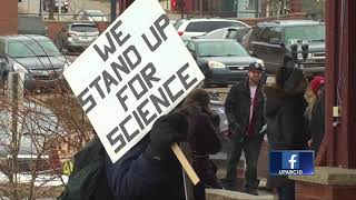 Locals march for science