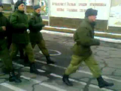 Армейский прикол. Строевая песня в русской армии /