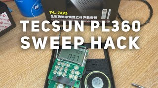 TECSUN PL360 sweep radio hack. Hypersweep AM FM Band Ghost Box