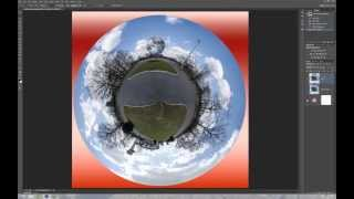 Photoshop CS6 360° Panorama. How to Create a Planet