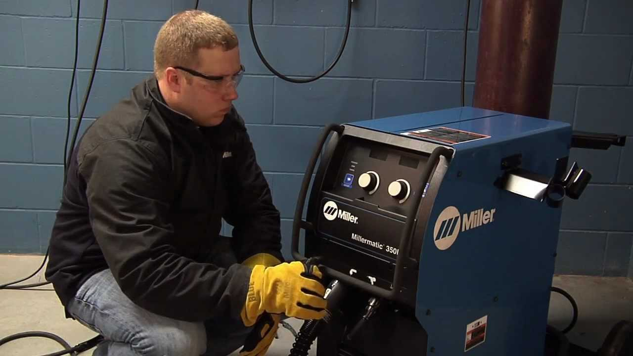 Millermatic® 350P MIG Welder system reset  YouTube