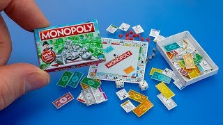 How to make a mini Monopoly Game with box diy dollhouse accessories - Tutorial for Barbie doll