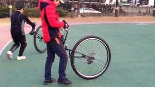 외발자전거 Unicycle 대구팔공클럽 박재호님 36자살타기 연습2