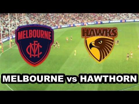 MELBOURNE vs HAWTHORN - AFL 2017