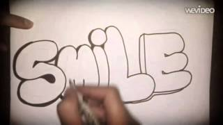 How to draw smile bubbles around it in graffiti