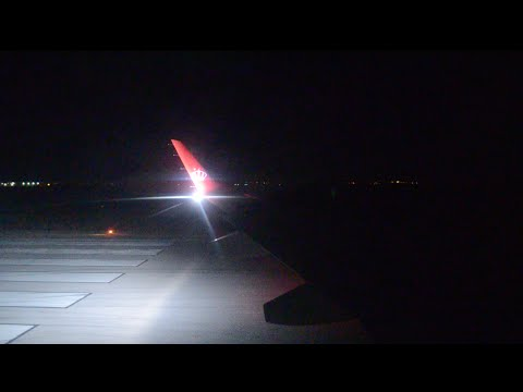 Royal Jordanian E195 Night Takeoff From Amman